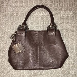 Tignanello brown leather hangbag